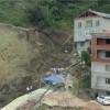 Giresun'da Bir İnşaatın Temelinin Kazılması Sırasında Toprak Kayması Meydana Geldi