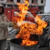 Kars'ta İnşaat İşçilerinin Soğukla Mücadelesi