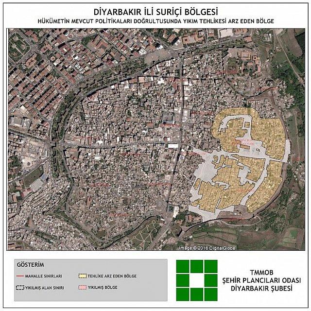 Sur'un Yeni ve Eski Uydu Görüntüleri Karşılaştırıldı