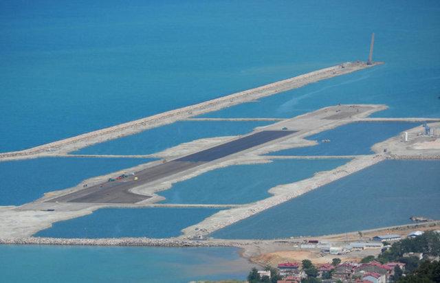 İşte Türkiye'nin ilk deniz üstü havalimanı!