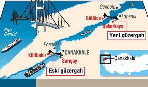 Çanakkale Geçiş Köprüsünün Güzergahı Belli Oldu