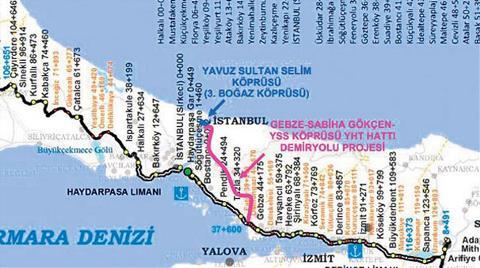 Gebze'den 3'üncü Köprüye 4 Milyar TL  Değerinde Yüksek Hızlı Tren Haberi