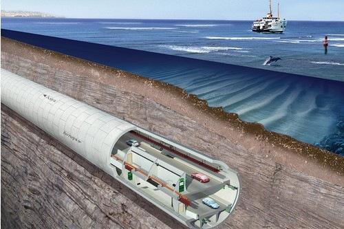 Çift Katlı Avrasya Tüneli'nde Kazı İşlemi Devam Ediyor