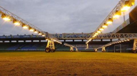 Rize'de Stadyuma Yapay Güneş Sistemi