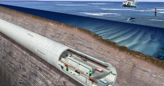 Boğaz'ın Altından Geçecek Avrasya Tüneli'nin Yüzde 35'i Tamamlandı