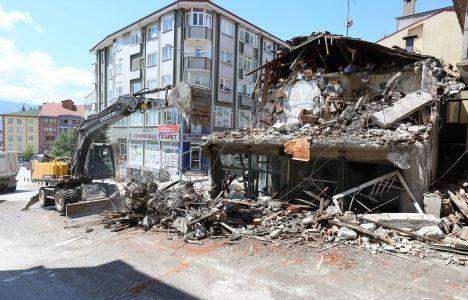 Bolu Büyükcami Mahallesi'nde yıkımlar başladı!