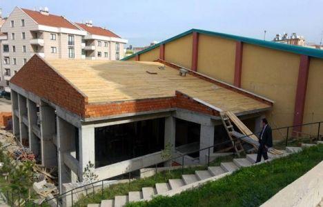 Bursa Mudanya Spor Salonu ek binasının kaba inşaatı tamam!