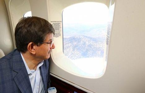 Başbakan Davutoğlu 3. köprü inşaatını inceledi!