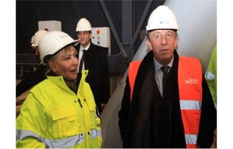 Ali Ağaoğlu, Elazığ'da çimento fabrikası inşaatını gezdi!
