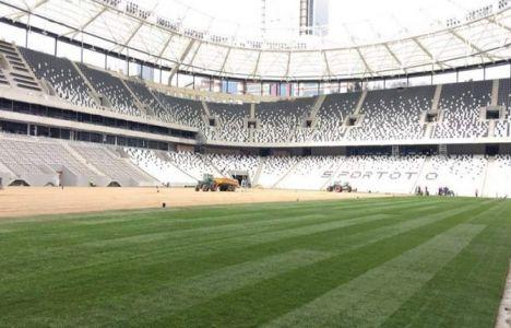 Vodafone Arena'da çim serme işlemi başladı!