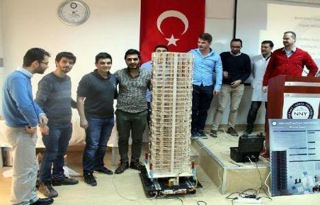Depreme Dayanıklı Bina Modeli Maket Yarışması yapıldı!
