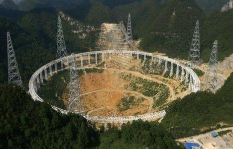 Çin'de inşa edilen 500 metrelik teleskobun inşaatında son durum!
