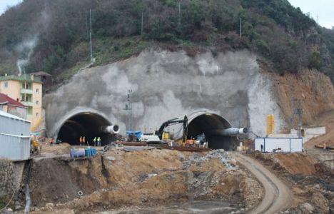 Trabzon Akyazı Tüneli'nde sona yaklaşıldı!