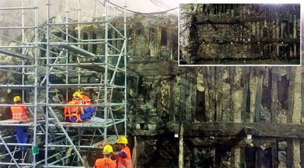 Avrasya Tüneli Projesi'nde Theodosius Limanı'nın Devamı Olan Mendirekler Bulundu