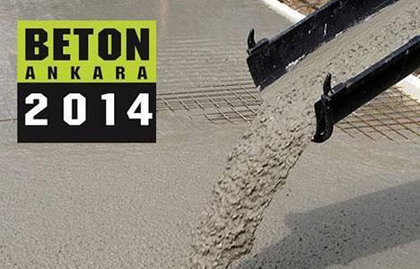 Başkent'te Beton Ankara 2014 fuarı başlıyor