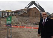 Bursa Koğukçınar'daki 3 bina yıkıldı!