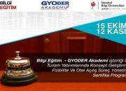 GYODER Otel Açılış Süreç Yönetimi Sertifika Programı 15 Ekim'de!