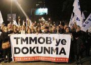 TMMOB Yasası Meşalelerle Protesto Edildi