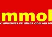 TMMOB, Bakanlığa Siyah Çelenk Bıraktı