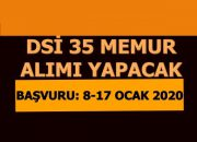 DSİ 35 Mühendis Alacak