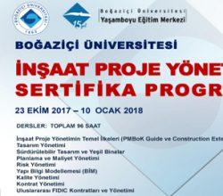 İnşaat Proje Yönetimi Sertifika Programı 2017