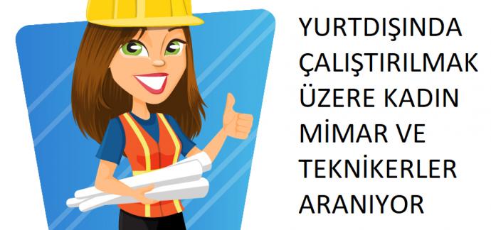 Özbekistan'da Çalıştırılmak Üzere Mimar veya İnşaat Teknikeri Aranıyor