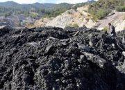 Facia Madeninde Çıkan Malzeme Adeta Dağ Oluşturdu