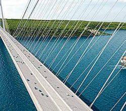 İnşaat halindeki 3. köprüye tekne turları başladı
