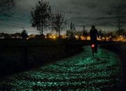 Karanlıkta Işıldayan Bisiklet Yolu