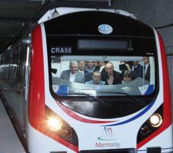 Marmaray'da ilk test sürüşü yapıldı.