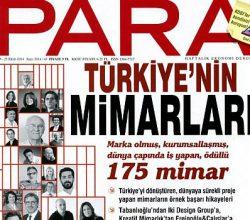 Para Dergisi, Türkiye'nin Markalaşmış 175 Mimarını Belirledi