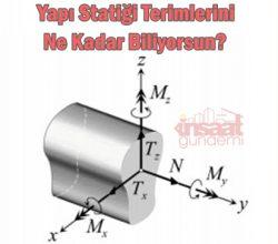 Yapı Statiği Bilgi Testi