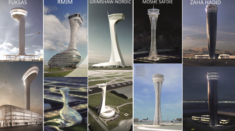 Yeni Havalimanının Kontrol Kulesi için Dünyaca Ünlü Tasarımcılar Yarışıyor
