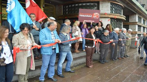 İller Bankası'nın Yıkımına Kurdeleli Protesto