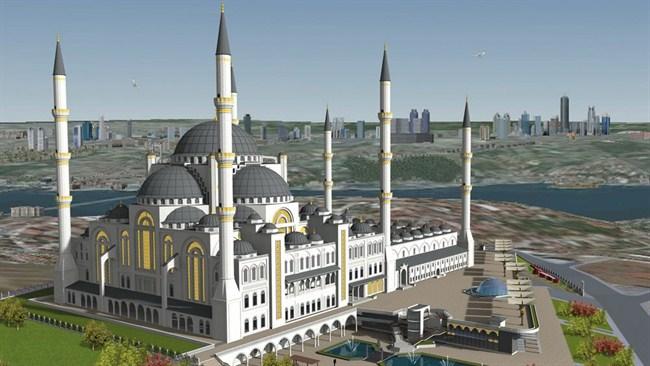 Çamlıca Camii İnşaatında Sona Yaklaşıldı.