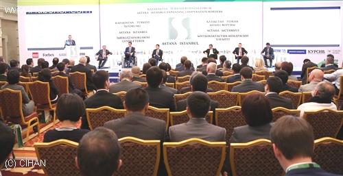 Kazak-Türk İş Forumu'nda 400 İşadamı Buluştu