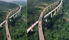 3. köprü çalışmasının havadan görüntüsü