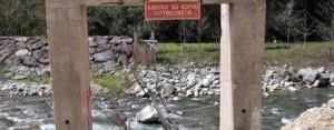 Şehit Anısına Yapılan Asma Köprüyü Taş Ocağı Yok Etti