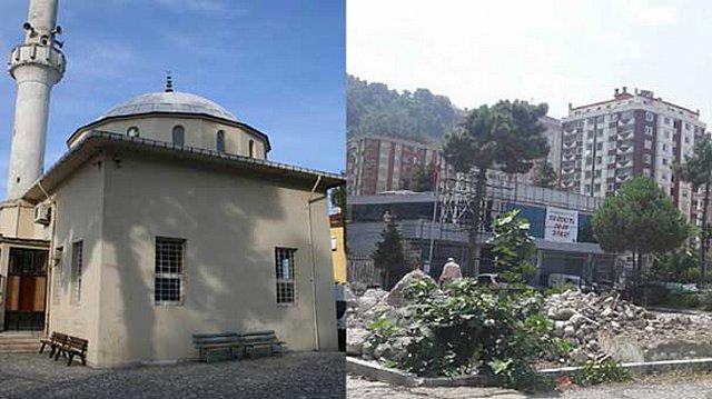 Rize'de Tarihi Cami Yıkıldı