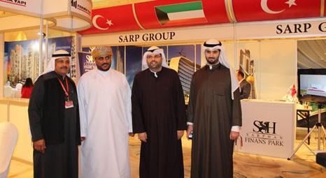 Sarp Group tanıtım standı, Kuveyt'te yatırımcının ilgi odağı oldu