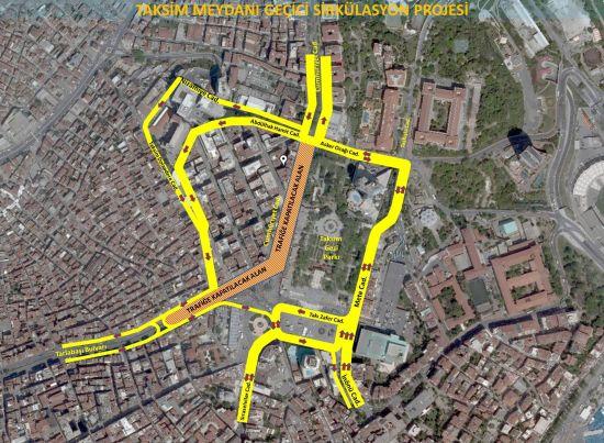 Taksim Meydanı Projesi Başladı