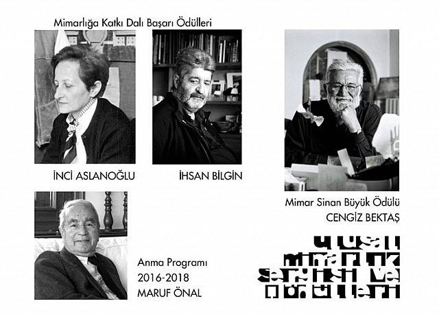 2016 Ulusal Mimarlık Ödülleri Mimar Sinan Büyük Ödülü Cengiz Bektaş'ın